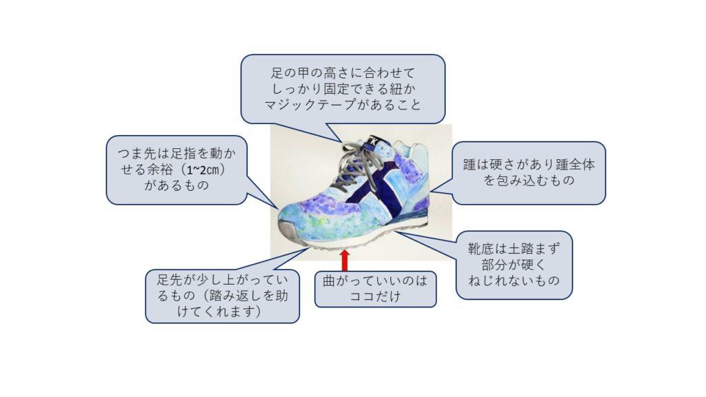 靴の選び方、履き方